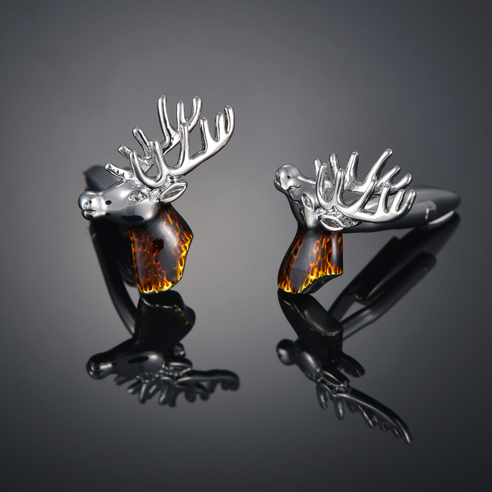 High quality finished products hand carved French cufflinks, cuffs, shirts, muxielk antlers