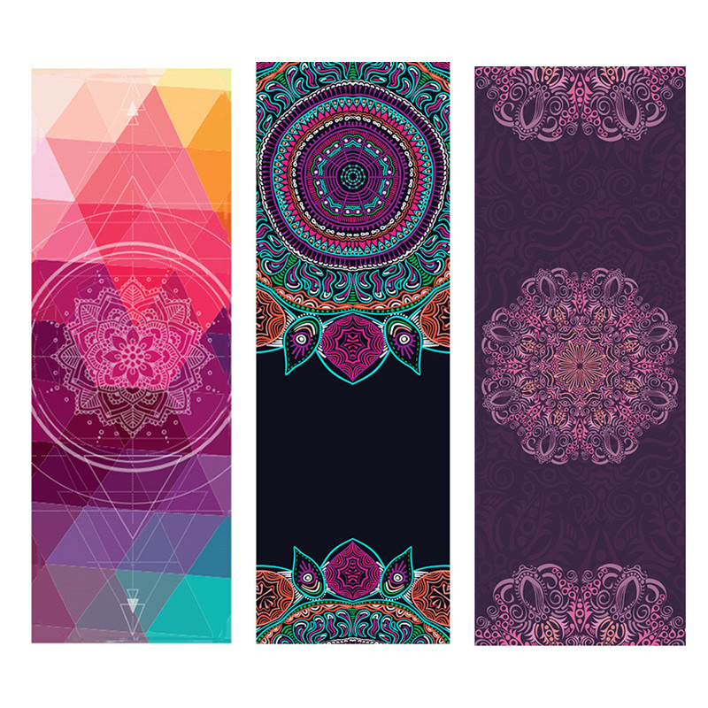 Print Yoga Matress 1.5mm Natural Rubber Suede Non Slip Yoga Mat Cover Workout For Gym Ftness Pilates Exercise Travel Yoga Mat