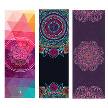 Print Yoga Matress 1.5mm Natural Rubber Suede Non Slip Mat Cover Workout For Gym Ftness Pilates Exercise Travel