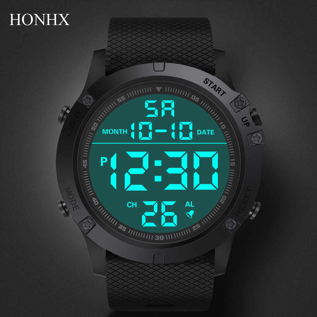Mannen Sport Horloges Mode Chronos Countdown Mannen Waterdichte Led Digitale Horloge Man Militaire Klok Relogio Masculino Digitale Wat