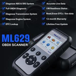 Image 2 - Autel ML629 OBD2 Car Auto Diagnostic Tool Scanners ABS SRS Engine Transmission