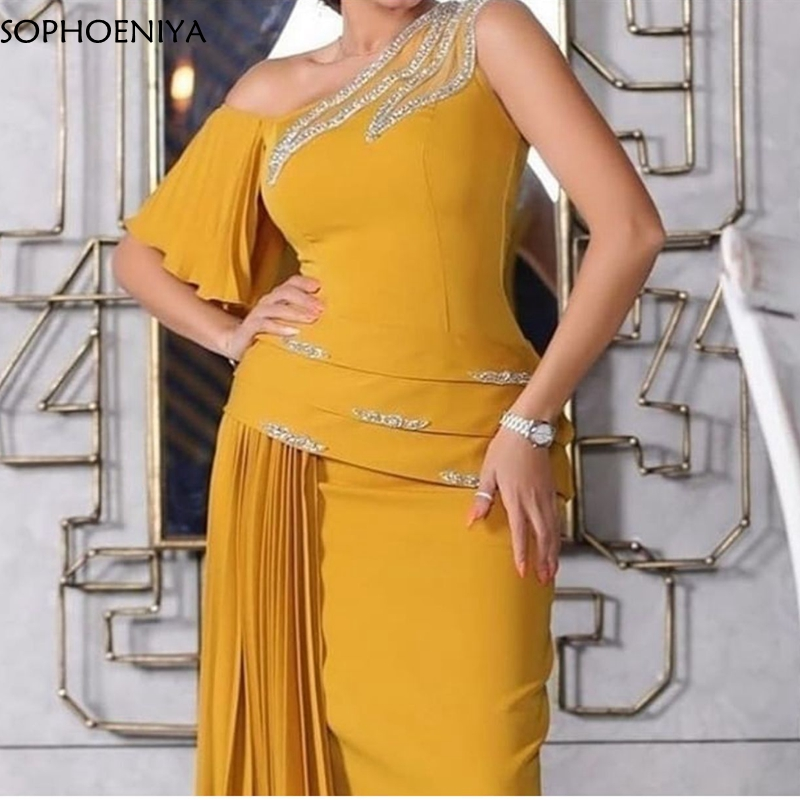 New Arrival Orange Evening Dresses Long Abiye Muslim Evening Dress Party Long Dress 2020 Robe Soiree Longue Galajurk