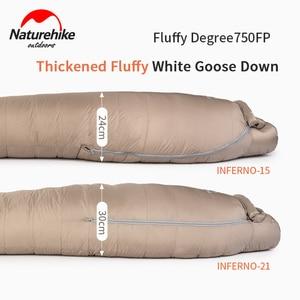 Image 2 - 2020 neue Naturehike  21 °C Gans Unten Schlafsack 750FP Professional Outdoor Camping Wandern Warme Wasserdichte Mummy Schlafsack