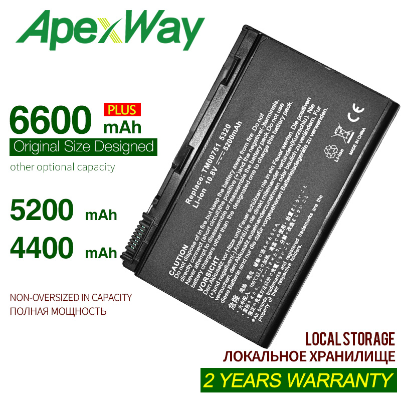 ApexWay 4400MAH <font><b>Battery</b></font> For <font><b>ACER</b></font> Extensa 5220 5230 5620 7620 <font><b>5210</b></font> 5420 5610 7220 5630 for TravelMate 5720 5320 5230 5520 5530 image