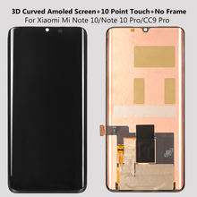 Amoled Display For Xiaomi mi Note 10 Pro LCD Display Touch Screen 3D Curved Original Digitizer Assembly For mi Note 10 CC 9 Pro