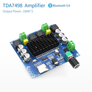 Image 2 - UNISIAN Bluetooth 5.0 TDA7498 אודיו מגבר כוח לוח 2x100W סטריאו דיגיטלי 2.0 ערוץ Amp מודול תמיכה TF כרטיס AUX