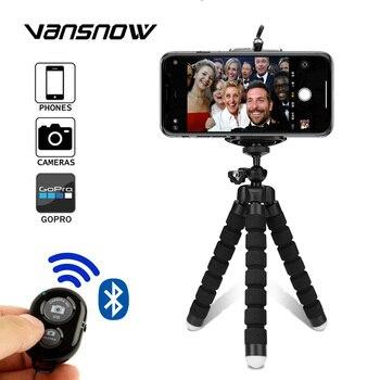 цена на Tripod for Phone Mini Flexible Sponge Octopus Monopod for Camera Selfie Remote Stick with Bluetooth Remote for Camera Holder