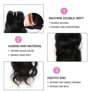 Image 3 - Alisky Natural Wave 3 Bundles Peruvian Hair Weave Bundles Remy Hair Extensions 100% Human Hair Weave for Black Women 1/3/4 Piece