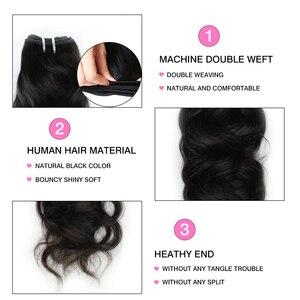 Image 3 - がaliskyナチュラル波3バンドルペルー毛織りバンドルレミーヘアーエクステンション人毛100% 毛織り黒人女性1/3/4ピース