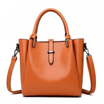 Bucket WOMEN'S Bag Fashion Large Capacity Handbag Simple Crossbody Bag