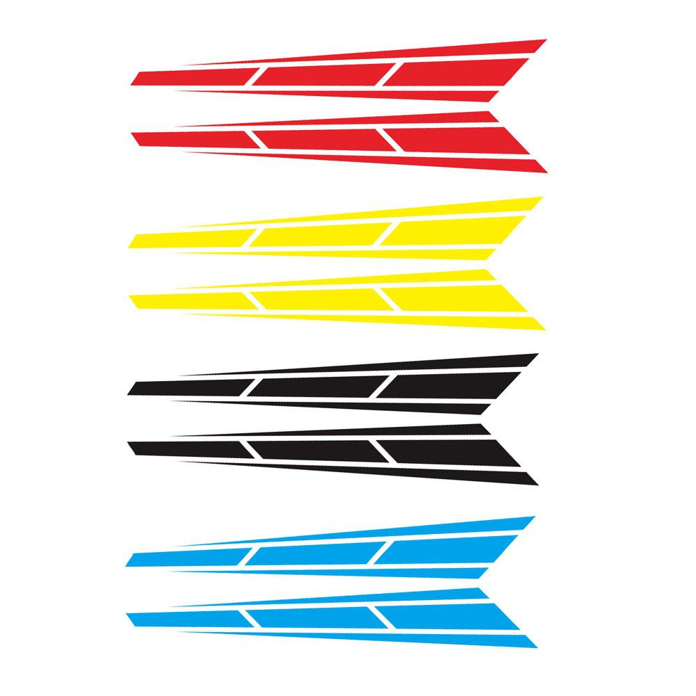 2Pcs Car Racing Sport Stripe Cover Vinyl Decals Graphics Truck Bonnet Stickers 12*80cm Accessories