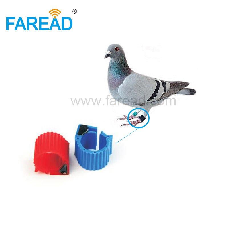 Free Shipping X100pcs Inner Diameter 9mm TK4100 125Khz Chip Electronic RFID Pigeon Bird Ring Tag For Tracking
