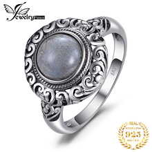 JewelPalace 2ct Vintage Genuine Labradorite Ring 925 Sterling Silver Rings for Women Jewelry Gemstones Fine