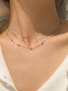 Chain Necklace Pendants Bead Choker Fine-Jewelry Gift Snake 925-Sterling-Silver Shiny