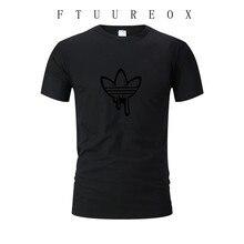 Новая летняя хлопковая футболка, Веселая футболка с коротким рукавом, Мужская модная брендовая Футболка с принтом