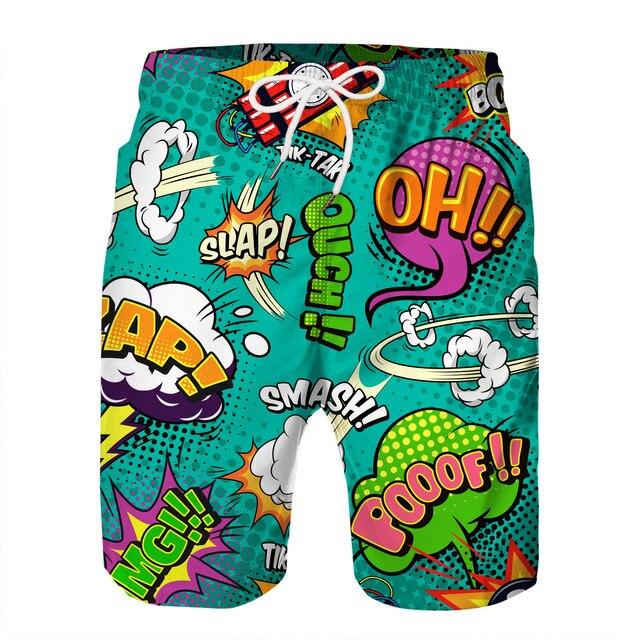 Summer Beach Pants Mens Swimwear Mens Board Shorts for Men Swim Trunks Shorts Wear Anime Naruto Itachi Uchiha Akatsuki Cosplay