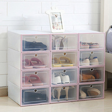 Feiqiong Cool Shoes Storage Box 2019  Transparent Drawer Case Stackable Storage Organizer High Quality Plastic Shoe Boxes 2019 цена