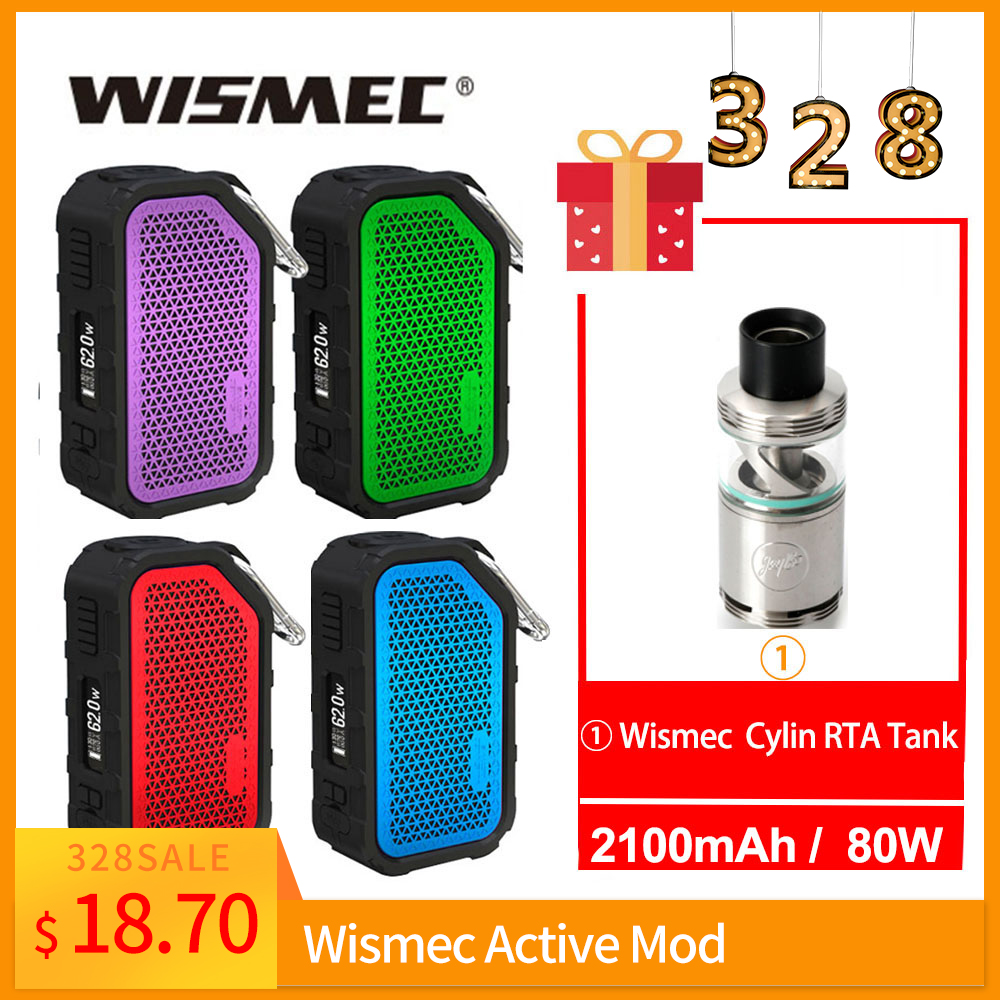 Free Gift Cylin RTA Tank Original Wismec Active Box Mod Or With Amor NSE Tank Wismec Mod 2100mAh Battery In 3ml WS-M Coil E-Cig