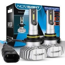 NOVSIGHT H4 9003 LED Headlight Kit For Cars H1/3/7 H11/13 9005 9006 Dual Hi/Lo Light Lamp Bulbs 10000LM 6500K White Super Bright