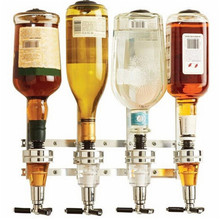 4 head Bar Beverage Liquor Dispenser Wine Pourer Alcohol Juice Beer Drink Shot Cabinet Wall Mounted Rack Party Home Bar Tools a1 small shot led bar bar wine cabinet can moved without plugging mini energy saving lamps wireless lead battery lighting lo4628