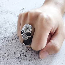 Stainless Steel Mens Skull Rings for Men Vintage Punk Rock Ring High Quality 2020 Fashion Jewelry Accessories Gifts Wholesale wholesale high quality mens punk 316l stainless steel pentagram star rings for men biker finger rings rock jewelry us size 9 12