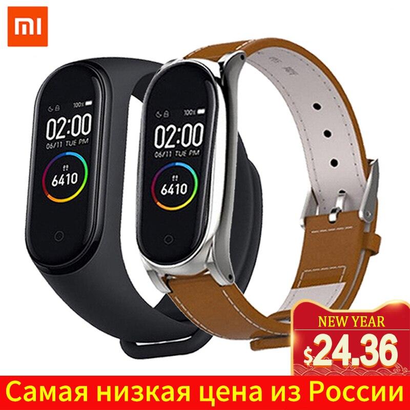 Xiao mi mi Band 4 Original 2019 Neueste Musik Smart mi band 4 Armband Herz Rate Fitness 135 mAh Farbe bildschirm Bluetooth 5,0