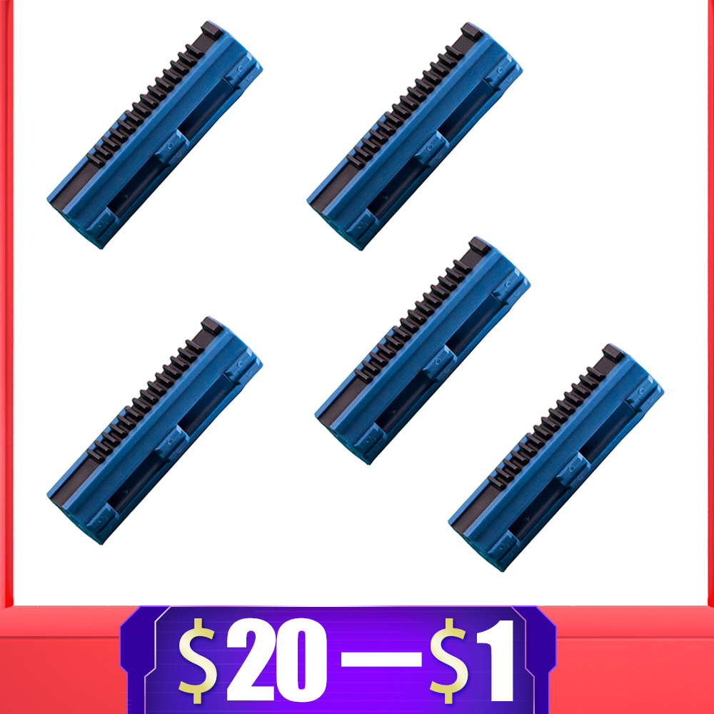 5PCS Reinforced Carbon Piston Plastic Full Steel 14 Ladder Tooth For Airsoft AEG Gel Blaster M4 JinMing9 Paintball Accessories