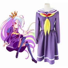 Anime No Game No Life Cosplay Costumes Shiro Cosplay Costume Sailor Uniforms Halloween Party Women Game Cosplay Costume цена