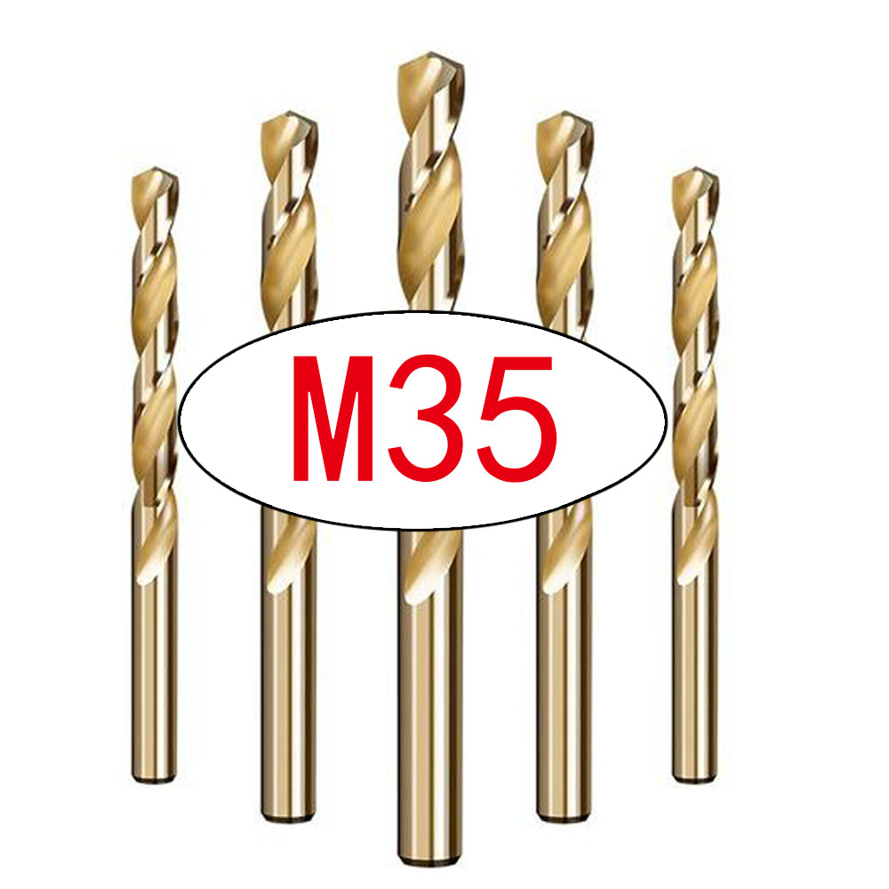 1pcs M35 HSS Cobalt Drill Bits For Metal /WoodWorking/Steel Straight Shank 1.0-13mm Twist Drill Bit Power Tools Drillforce