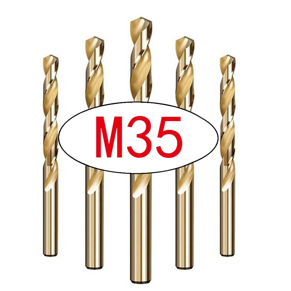 1pcs M35 HSS Cobalt Drill Bits For Metal /WoodWorking/Steel Straight Shank 1.0-13mm Twist Drill Bit Power Tools Drillforce
