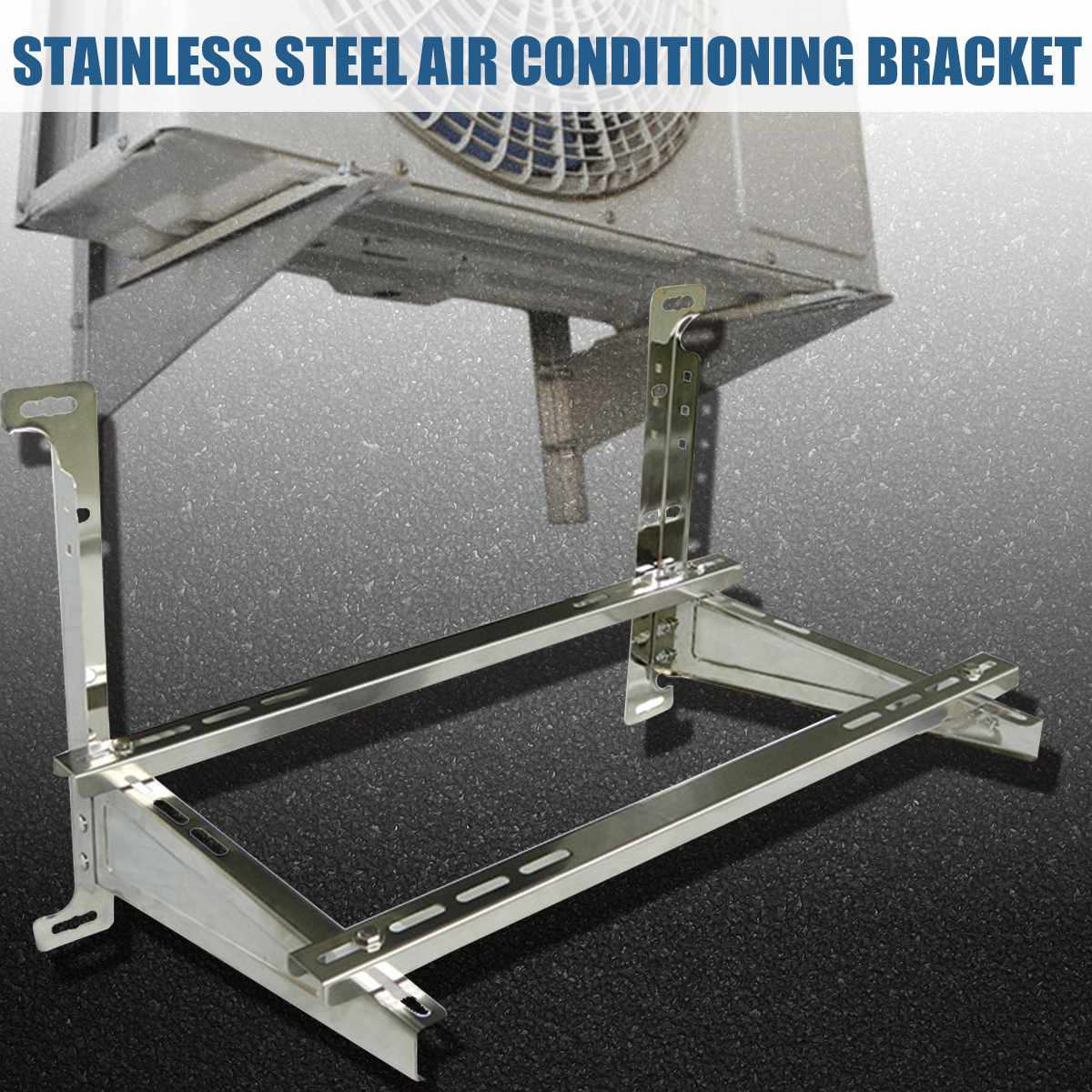 1 1.5P/3P Universal Outdoor AC Bracket for Air Conditioner Support Bracket Air Conditioner Wall Mount Stainless Steel|Air Conditioner Parts| |  - title=