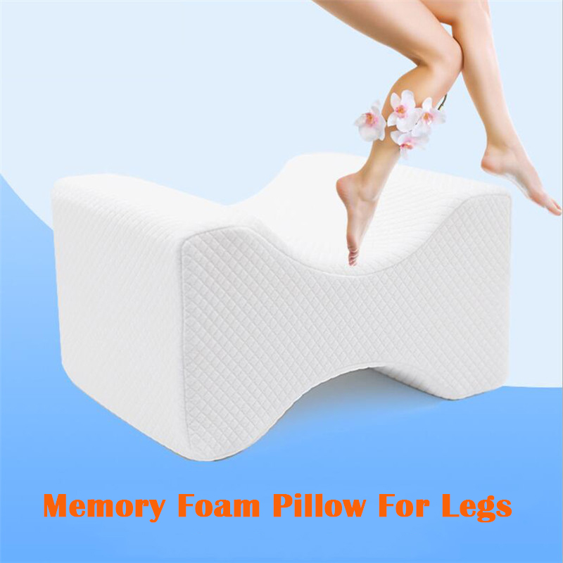 Memory Foam Knee Pillow For Sleeping Between The Legs Cushion For Side Sleepers Align Spine Pregnancy Body Pillows Back Support