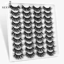SEXYSHEEP – faux cils en vison 3D faits à la main, 5/8/12/20 paires, extensions naturelles pour les yeux, Kit de maquillage