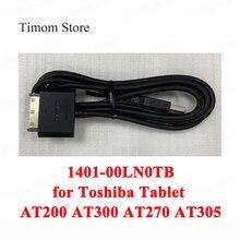 עבור Toshiba Tablet AT200 AT300 AT270 AT305 סדרת נתונים כבל מטען החלפת 100% מקורי 1401 00LN0TB טעינת נתונים כבלים