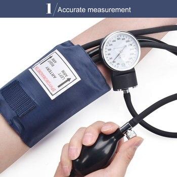 Blood Pressure Monitor Diastolic Sphygmomanometer Doctor Stethoscope Manual Cuff Use Health Measure Systolic home Device 2