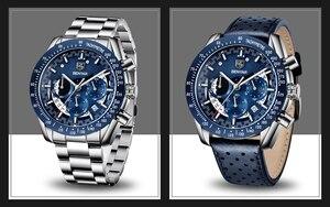 Image 5 - 2020 Horloge Mannen Luxe Merk Benyar Mannen Blauw Horloge Roestvrij Staal Horloge Mannen Chronograaf Horloge Mannen Relogio Masculino