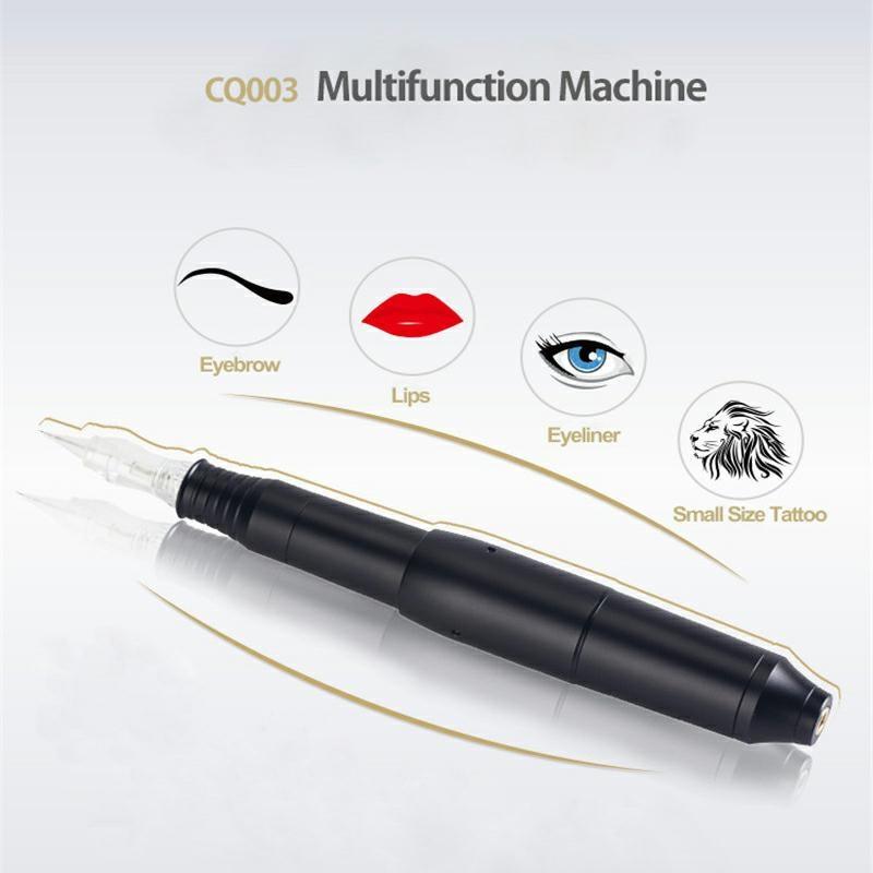 حار جديد المهنيه CQ003 التبديل تجميل دائم آلة القلم مع إبر الحاجب الشفاه القلم 3D Microblade تاتو بندقية مجموعة-في بنادق الوشم من الجمال والصحة على  مجموعة 1