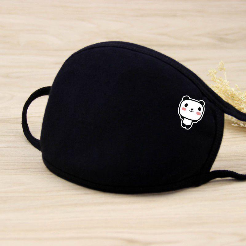 Cotton Mask Dustproof Haze Sunscreen Breathable Unisex Waterwash Masks  Fashion Cartoon Black Mask