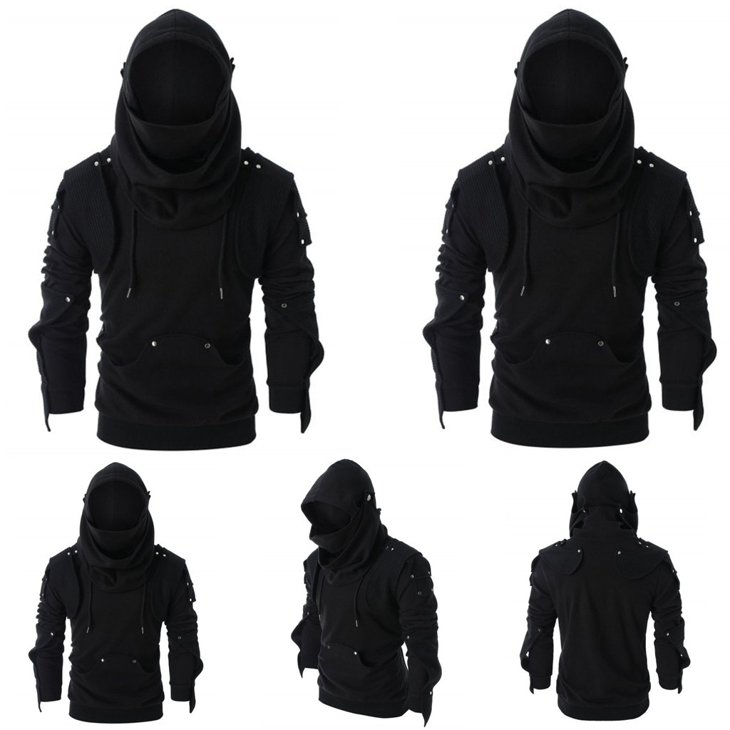 Mens Hoodie Sweatshirts Jacket Coat Tops Loose Side Zipper Buttons Clothing Hot