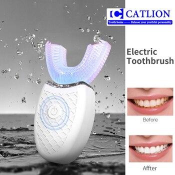 Norma Mijia Spazzolino Da Denti Elettrico Timer Automatico Ad Ultrasuoni 360 Nano Silicone A Forma Di U USB Ricaricabile Senza Fili Teethbrush Bambini