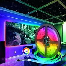 LED şerit 2811 IC RGB 5050 Led esnek ışık 300 modu 12V akıllı şerit şerit bant HDTV TV masaüstü ekran arka Bias ışıkları