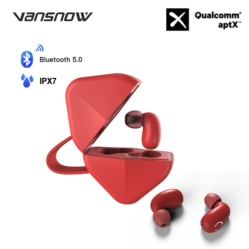 Wireless Earphones B6 IPX7 Waterproof TWS Earphone Wireless Earbud Bluetooth 5.0 Support Aptx/AAC 45h Play Time for IOS/Android