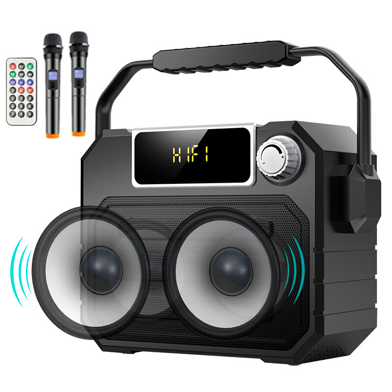 Wireless Bluetooth Dual Speaker 135mm Subwoofer Boombox Super Bass FM TF MIC AUX