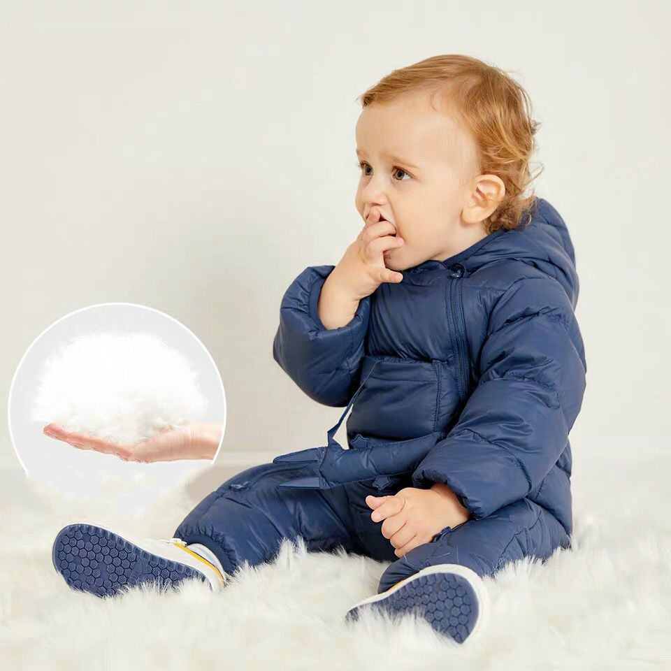 Babyspielanzug Winter Oberbekleidung Kinder Schneeanzug Infant Mantel Kinder Ente Unten Overall Baumwolle Liner Kind Mantel Schnee Tragen Kostüm