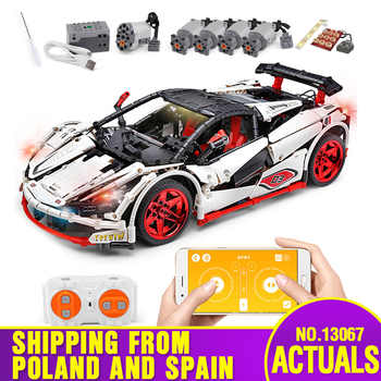 20087 DHL Yeshin Technic Car Series Compatible With MOC-3918 Motorzed White Car Set Kid Building Blocks Bricks APP RC Cars Toys - DISCOUNT ITEM  20% OFF All Category