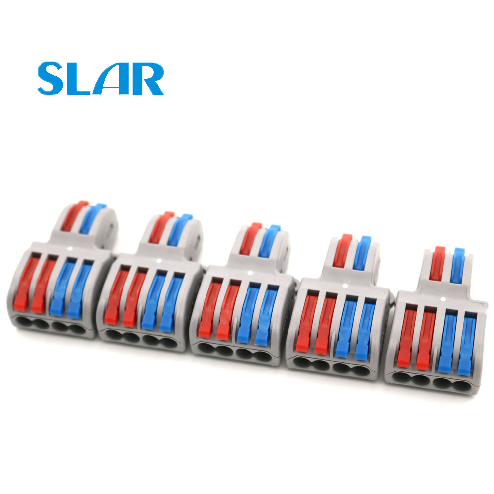 5pcs SPL-42 Or SPL-62 32A PCT-222 Mini Fast Wire Connector Universal Wiring Cable Connector Push-in Conductor Terminal Block