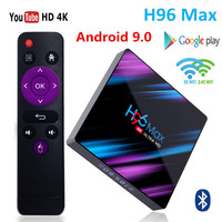 H96 MAX TV Box Android 9.0 Rockchip RK3318 4G 32GB 64GB USB3.0 H.265 WiFi Bluetooth 4.0 4K 3D Android box Streaming Media Player
