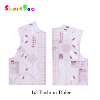 1:3 Fashion Ruler for Design in Notebook Small Cloth Pattern Ruler; Tailor Sewing Making Tools a Doll - discount item  9% OFF Drafting Supplies
