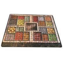 Personalizado grande playmat heroquest 815x650 com bordas costuradas (bordas bloqueadas mousepad grande) almofada de jogos de tabuleiro de borracha natural