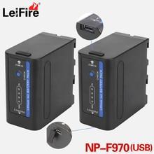 2 шт. NP-F960 NP-F970 USB аккумулятор с светодиодный Мощность индикаторы для SONY F960 F550 F570 F750 F770 MC1500C 190P 198 F950 HD1000C